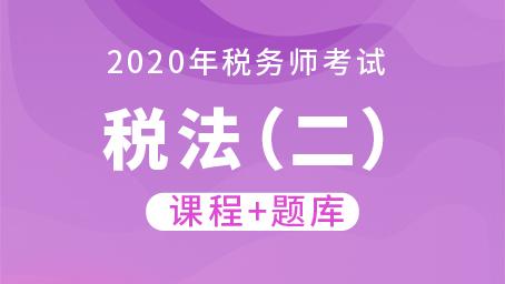 2020年税务师考试税法(二)  (课程+题库)