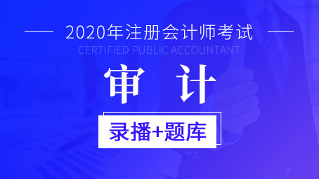2020年注册会计师-审计(录播+题库)