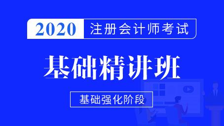 2020年注册会计师课程基础班