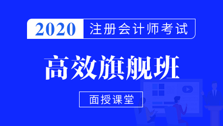 2020年注册会计师名师高效全程
